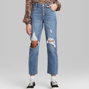Wild Fable High Rise Distressed Ankle Cut Jeans 10